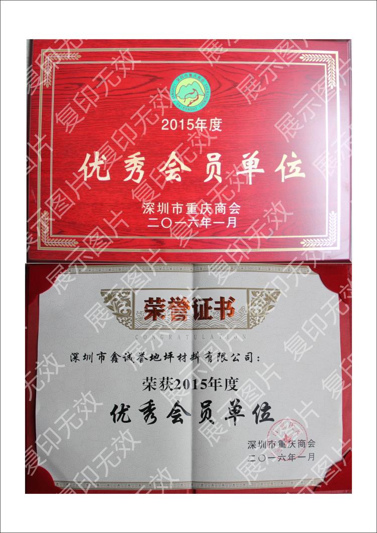 深圳市重庆商会优秀会员单位